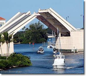 Drawbridge on the intracoastal waterway venice florida
